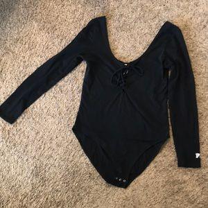 Large black bodysuit Victoria's Secret pink